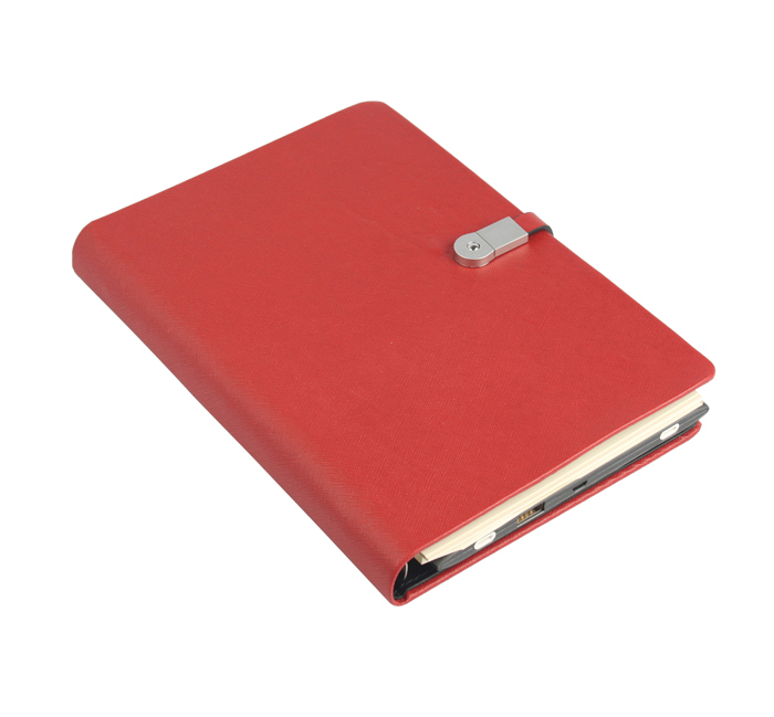 Notebook With Power Bank And USB