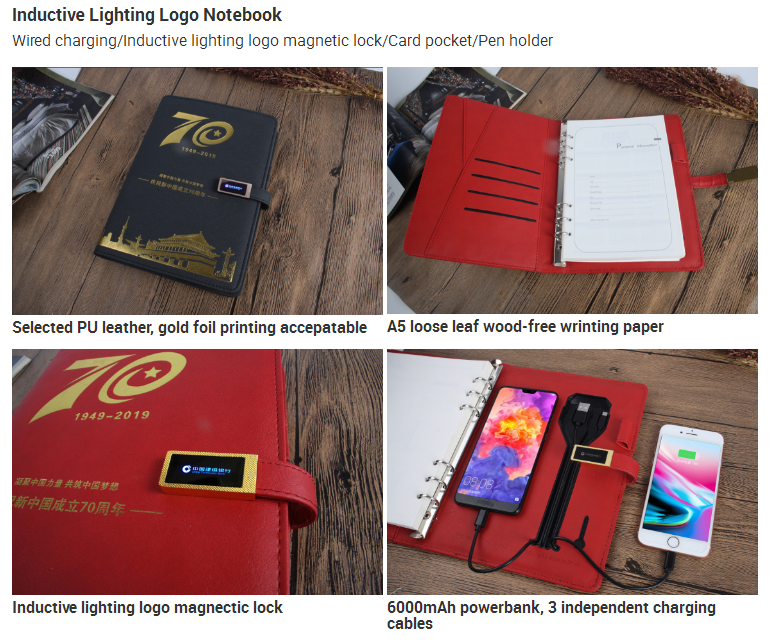 Inductive Lighting Logo Notebook