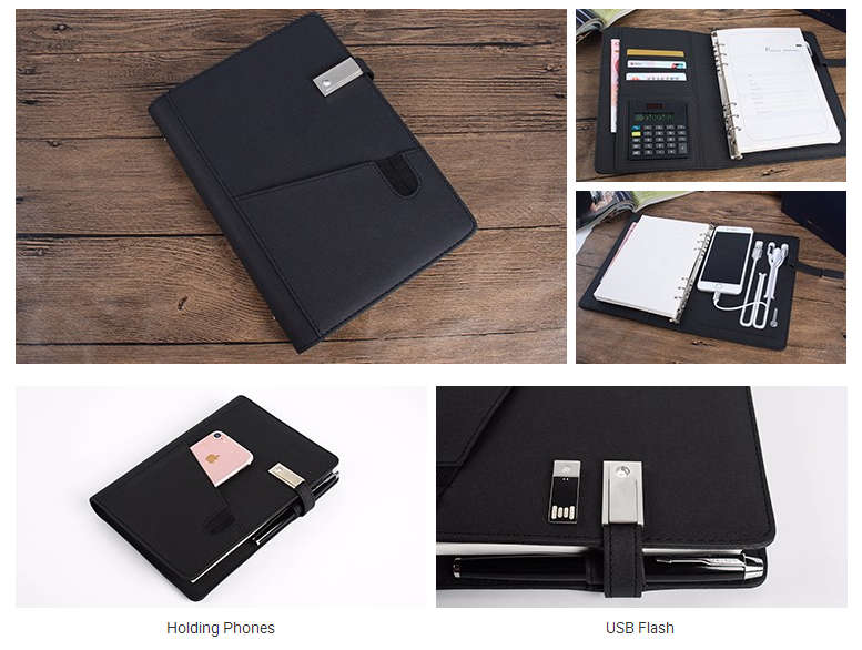 Organizer Notebook with Power Bank