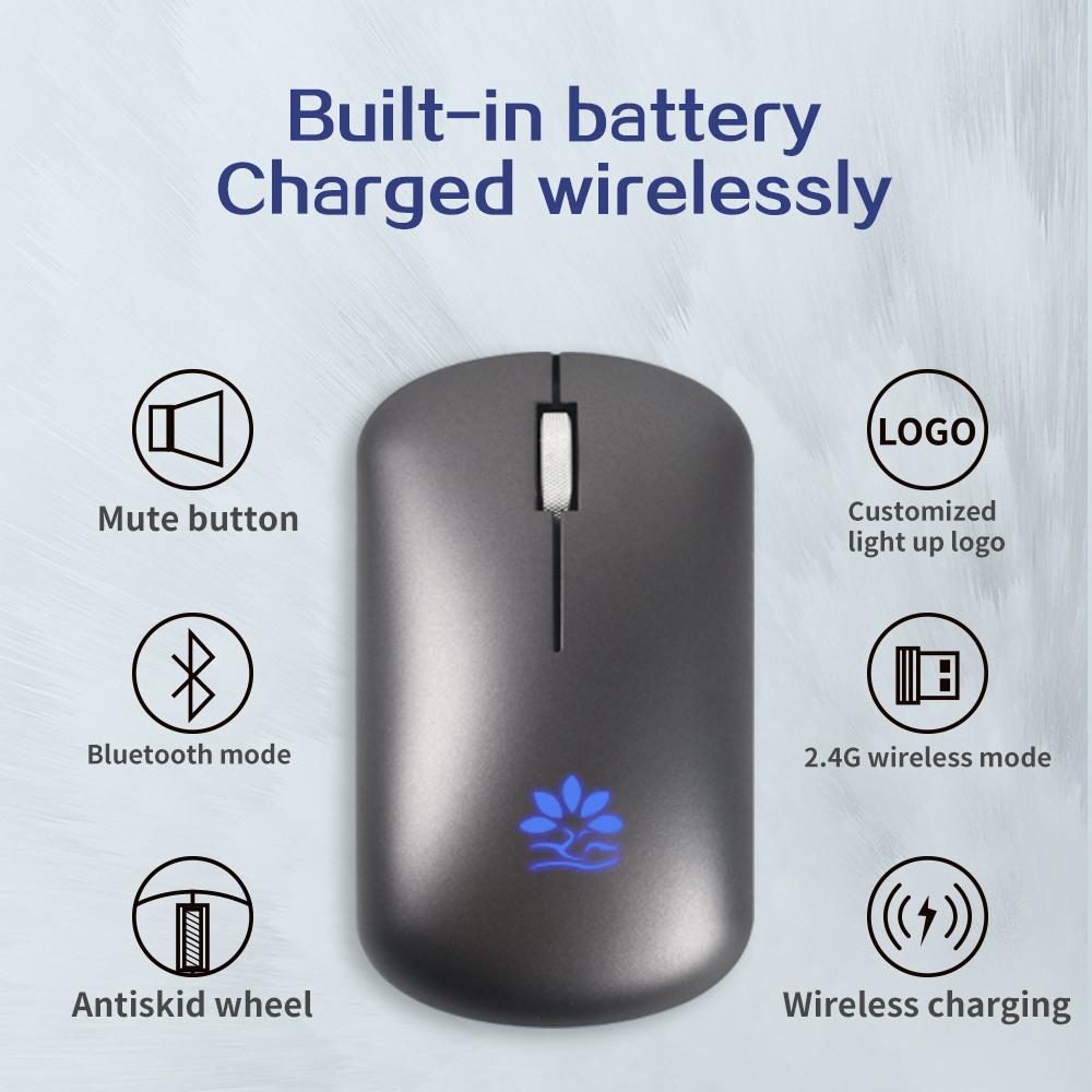 Light Up logo Wireless Mouse Pad Gift Set