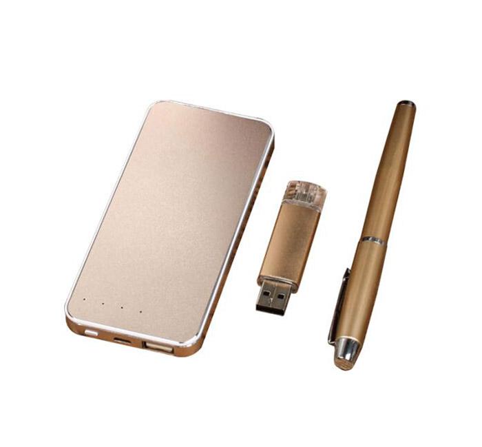 I5 Power bank +Pen+U Disk Gift Sets