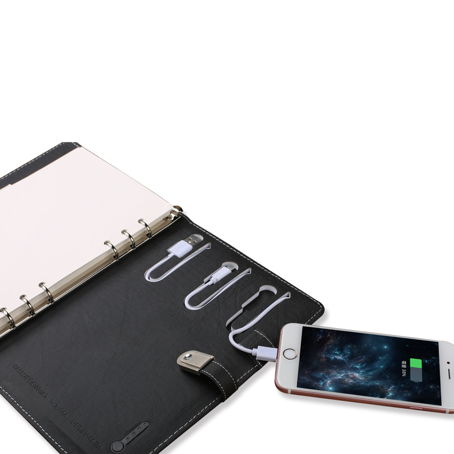 Power Bank Notebook With USB Flash Drive