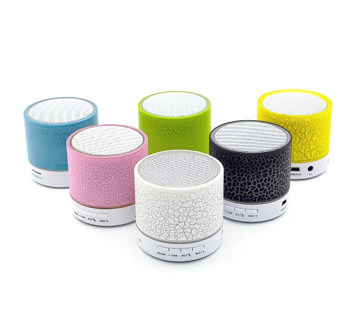 Mini Crack LED Bluetooth Speaker