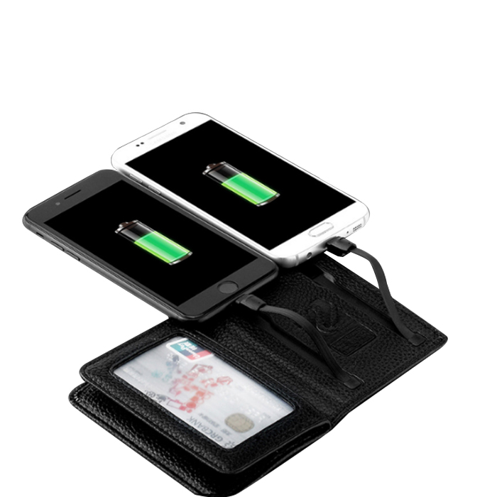 Leather Wallet Power Bank 4000mAh