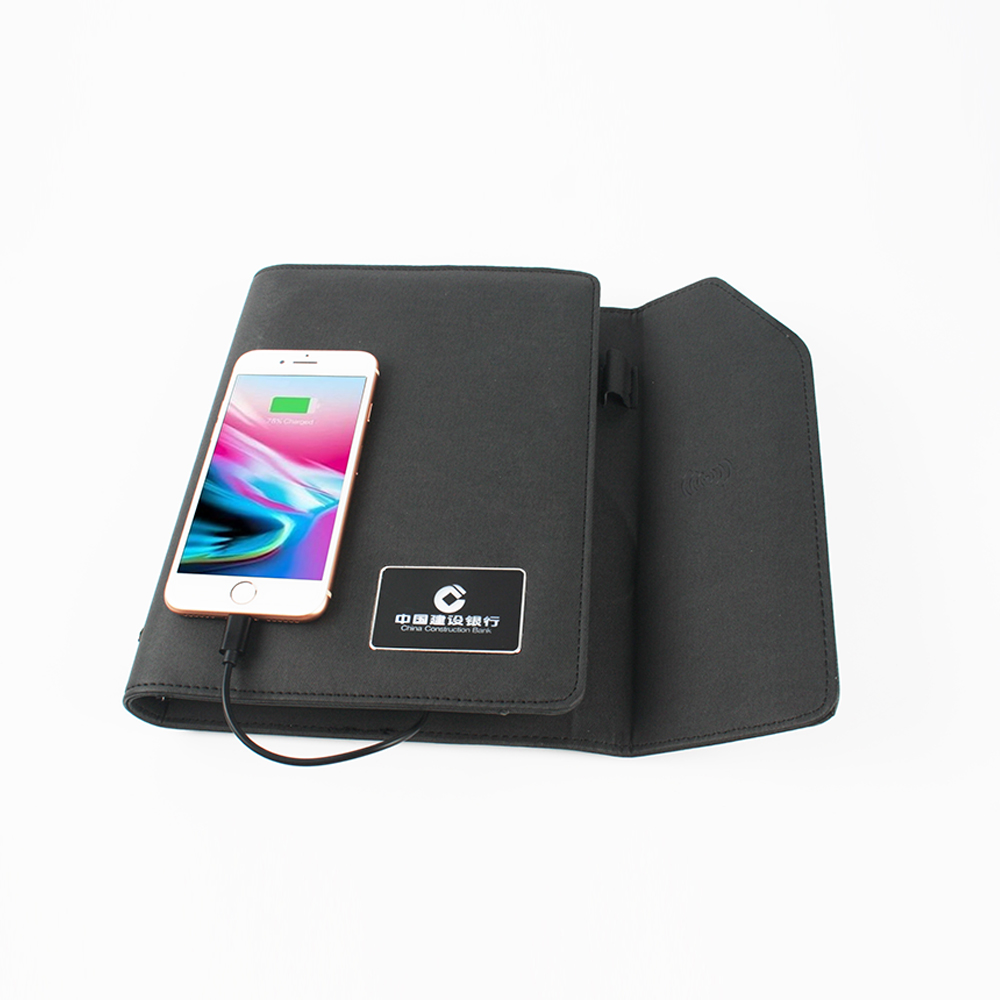 Wireless Charging Lighting Logo Notebook
