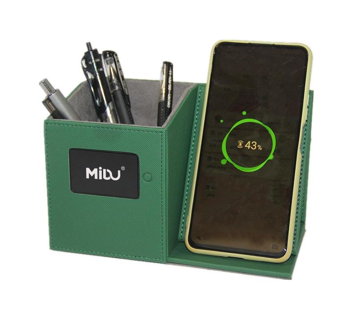 LED logo Wireless Charging Pen Holder